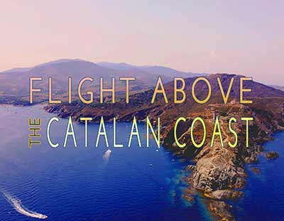 Flight above the Catalan coast, aerial video, reportage, Collioure, Banyuls-sur-Mer, Cap Béar... Pyrénées-Orientales